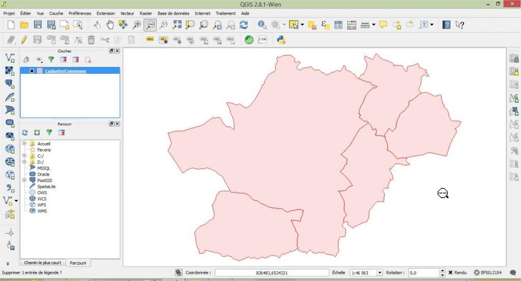 Impuls'Map - Tutoriel - Afficher des données vectorielles dans Qgis - Visualiser données