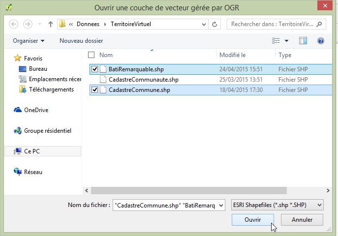 Impuls'Map - Tutoriel - Jointure Spatiale avec Qgis - Ouvrir Couche Vecteur