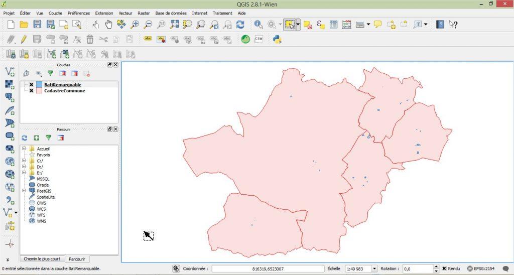 Impuls'Map - Tutoriel - Jointure Spatiale avec Qgis - Affichage Couche