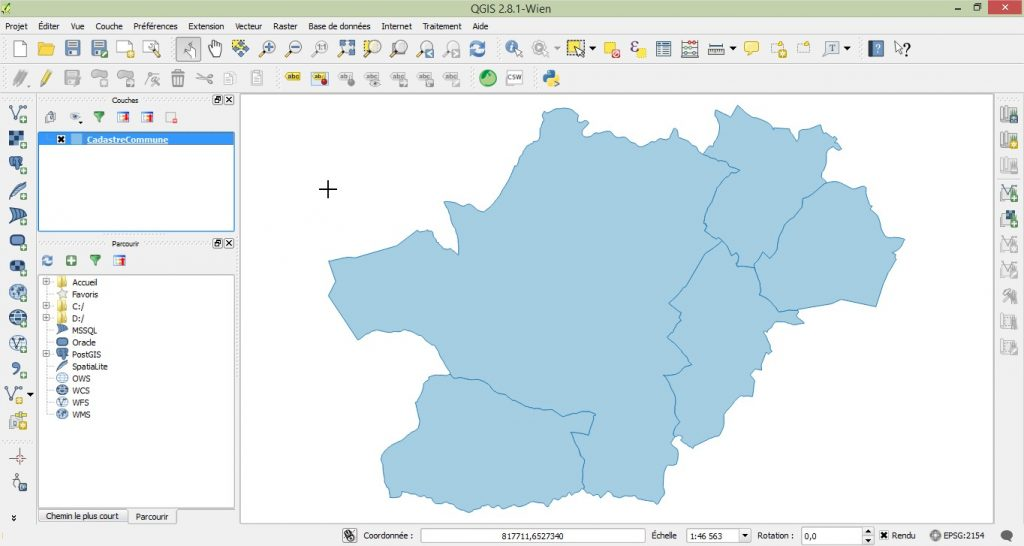 Impuls'Map - Tutoriel - Afficher Donnees Postgis dans Qgis - Afficher Table
