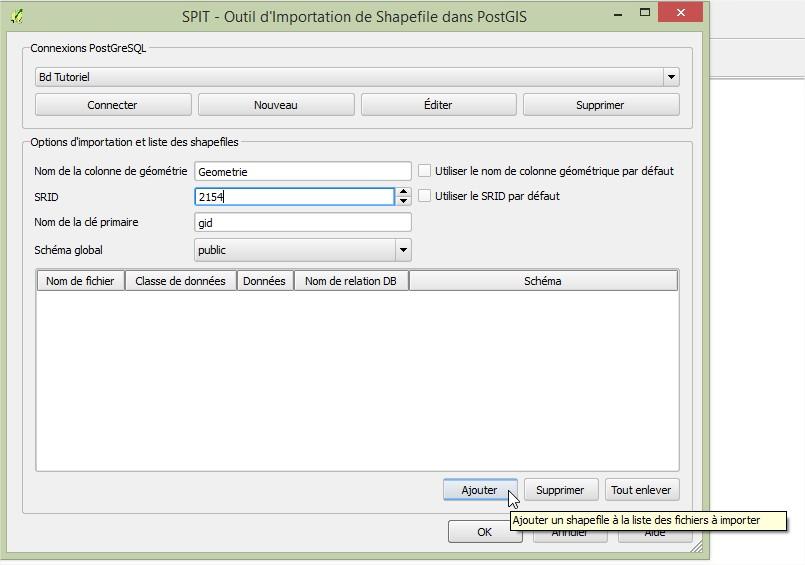 Impuls'Map - Tutoriel - Importer Shapefile Postgis QGIS SPIT - Ajouter Shapefile