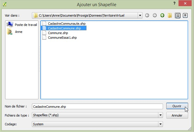 Impuls'Map - Tutoriel - Importer Shapefile Postgis QGIS SPIT - Ouvrir Shapefile