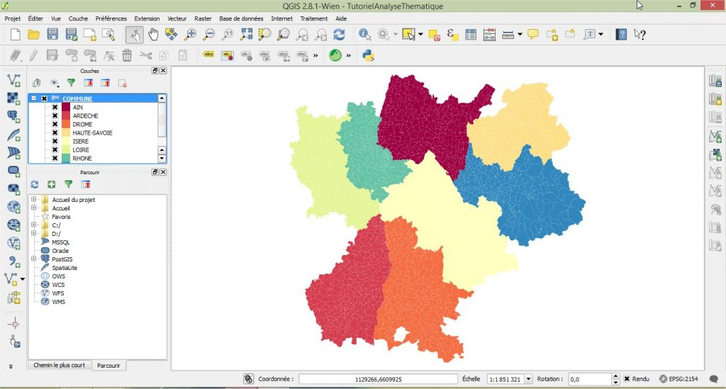 Impuls'Map - Tutoriel - Effectuer Analyse Thématique Qgis - Visualiser