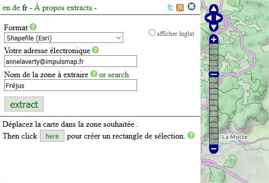 Impuls'Map - Tutoriel - Exploiter OSM QGIS - Extract BBBike Mail Téléchargement