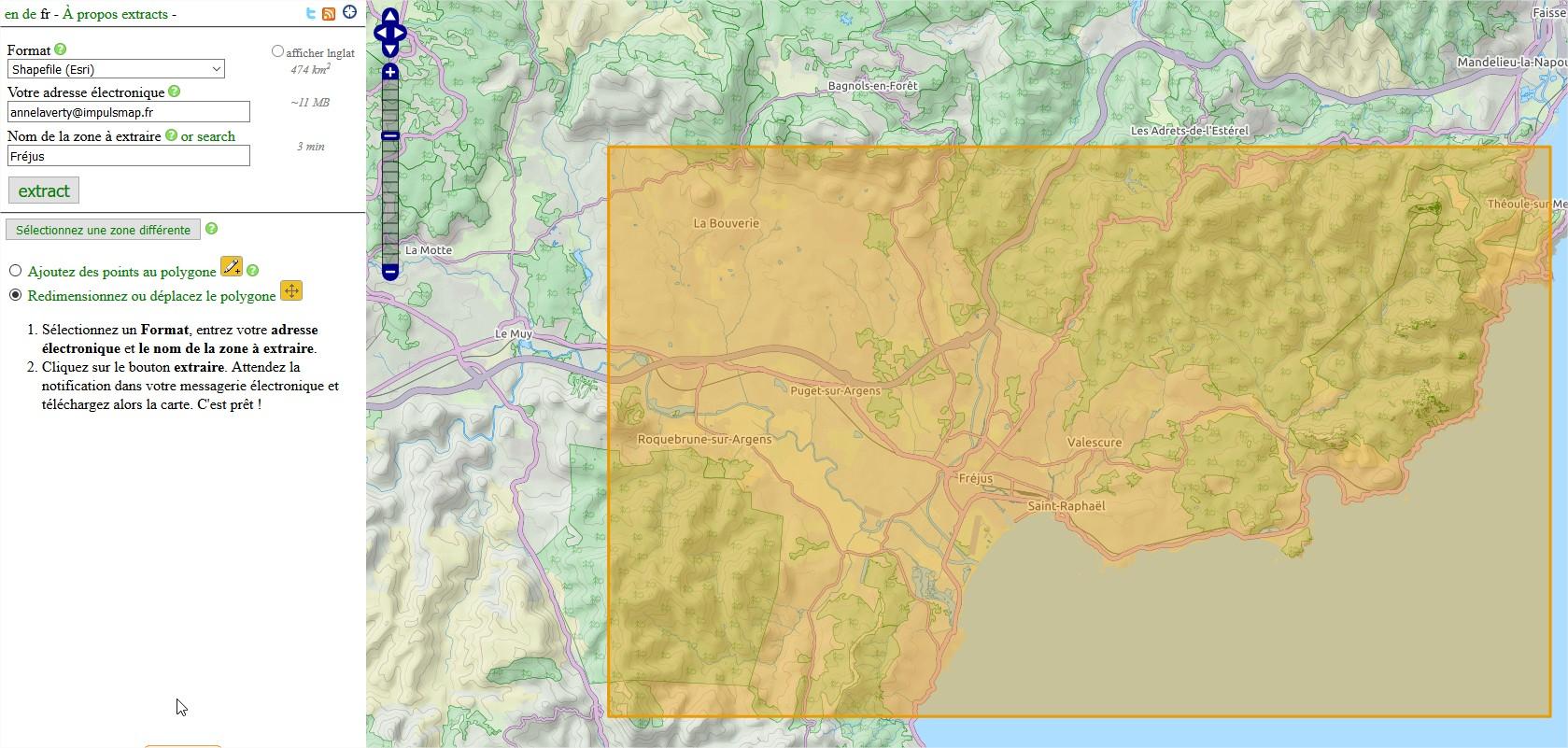 Impuls'Map - Tutoriel - Exploiter OSM QGIS - Extract BBBike Zone