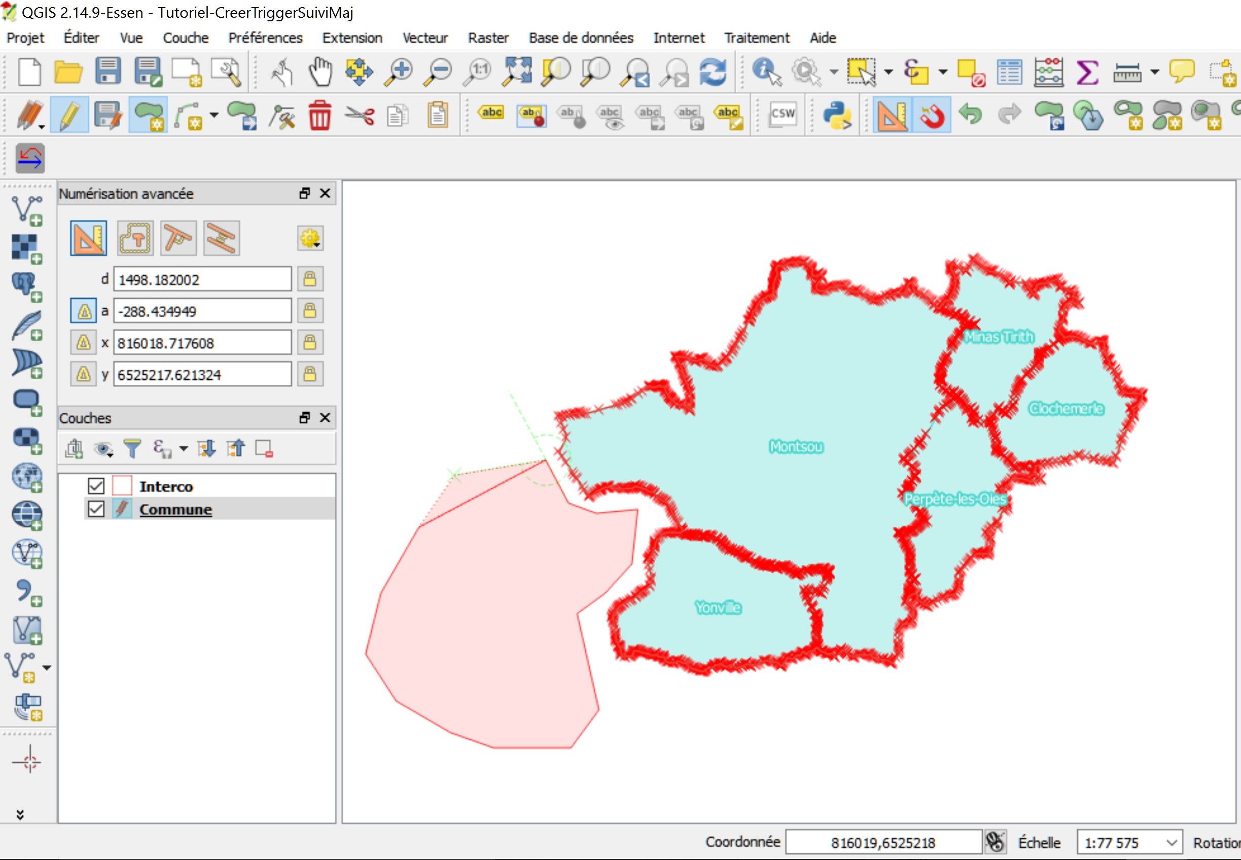 Tutoriel Impuls'Map - Trigger suivi mises à jour PostgreSQL PostGIS - QGIS mode Edition