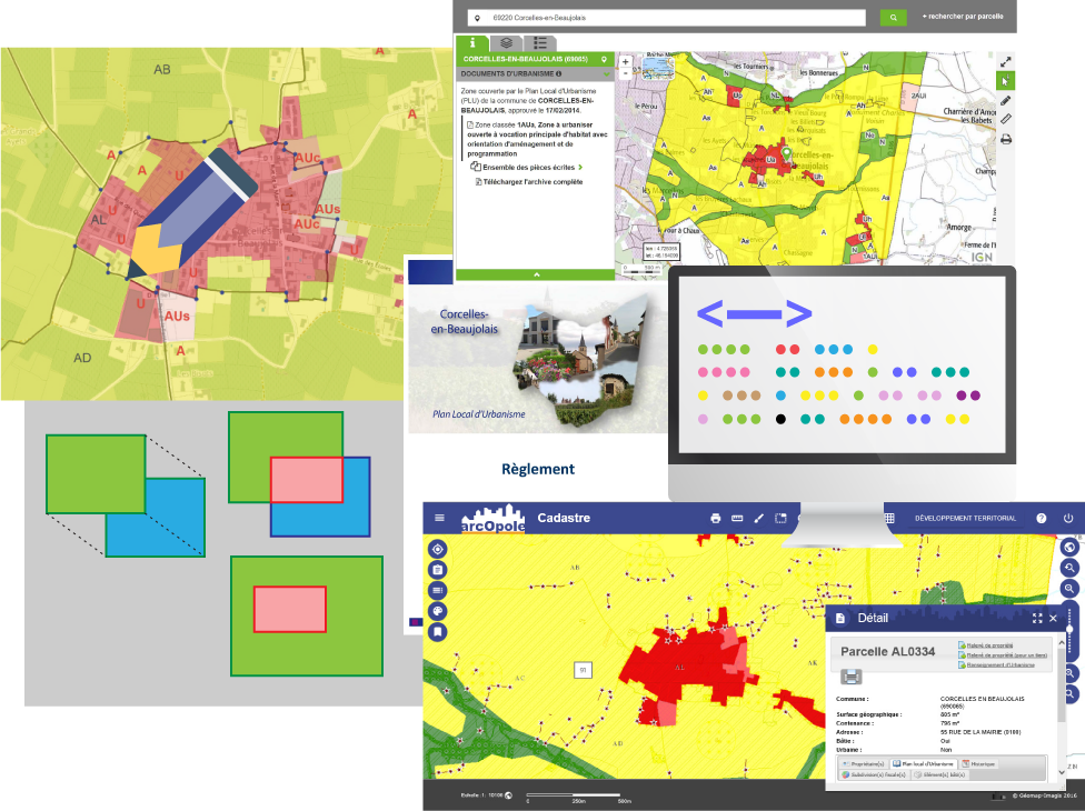 Impuls'Map Référence PLU GPU CNIG Corcelles-en-Beaujolais