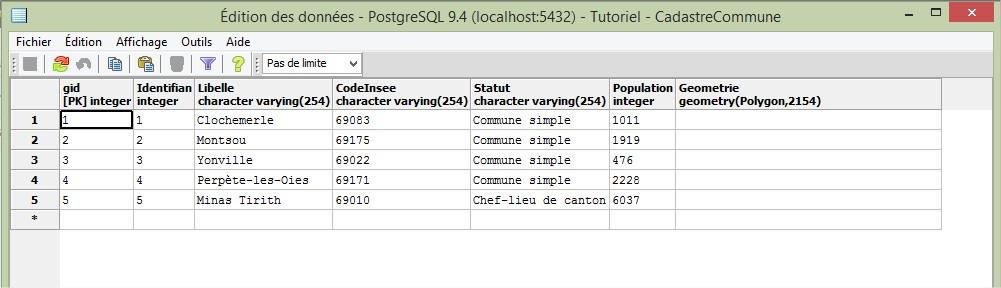 Impuls'Map - Tutoriel - Importer Shapefile Postgis QGIS SPIT - PostGIS Afficher Données