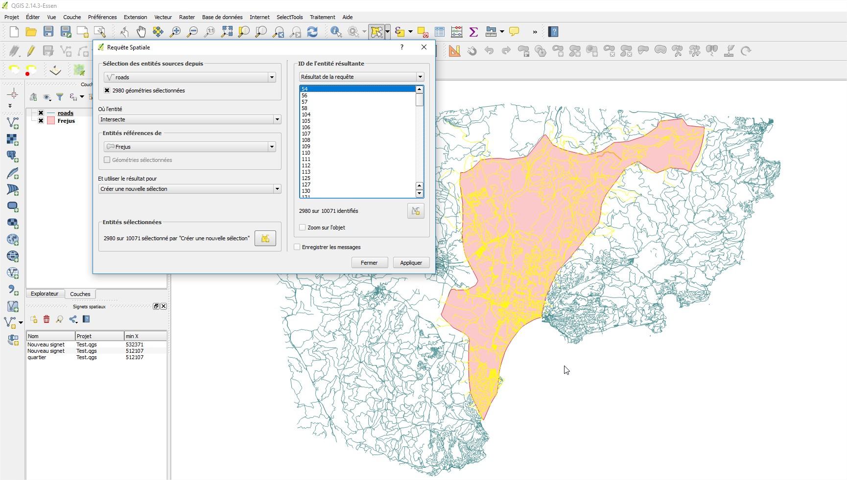 Impuls'Map - Tutoriel - Exploiter OSM QGIS - QGIS Requête spatiale
