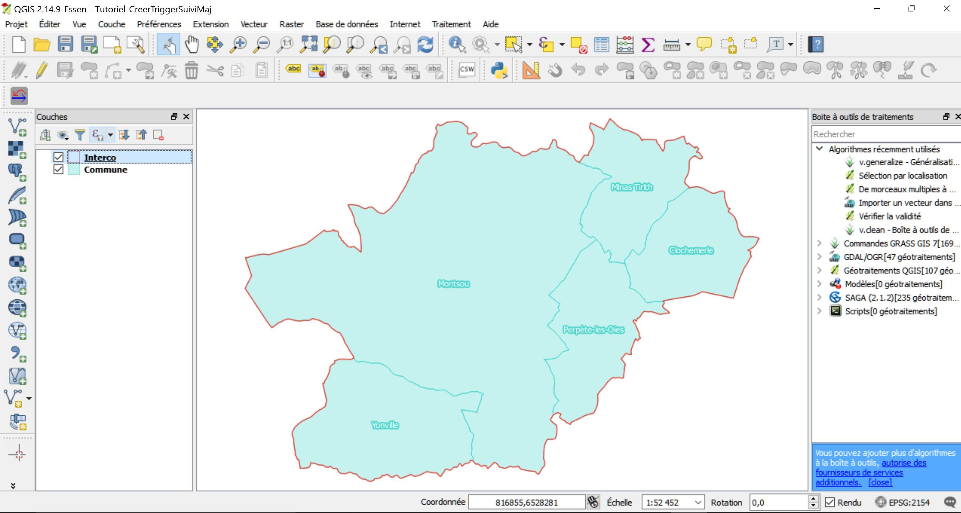 Tutoriel Impuls'Map - Trigger suivi mises à jour PostgreSQL PostGIS - Ouvrir données QGIS
