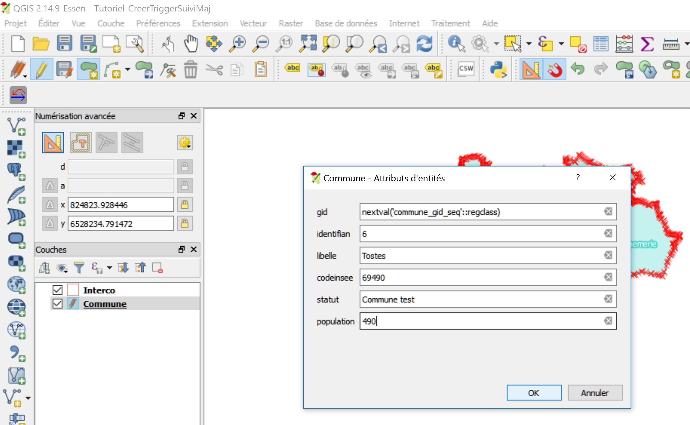 Tutoriel Impuls'Map - Trigger suivi mises à jour PostgreSQL PostGIS - QGIS données attributaires